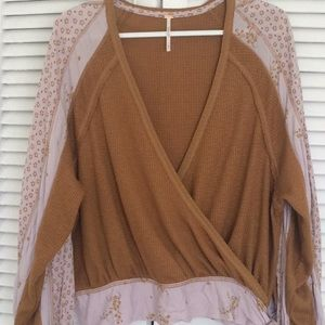 Free People Floral Wrap Thermal. Never Worn.